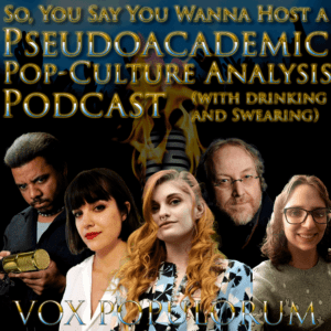 Episode artwork featuring all fives hosts of the VoxPopcast podcast