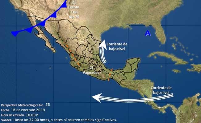 Frente frío 29 provocará lluvias en Tabasco