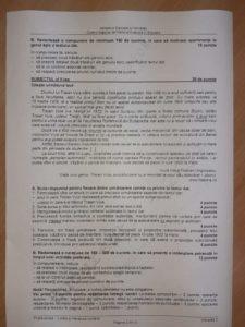 subiecte evaluare nationala romana 2020