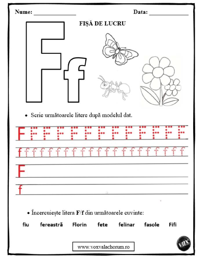 Sunetul și litera F