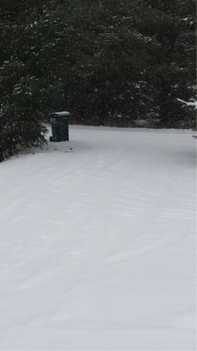 Driveway 11/10 - first real drive in the snow - no snowblower or snow plow