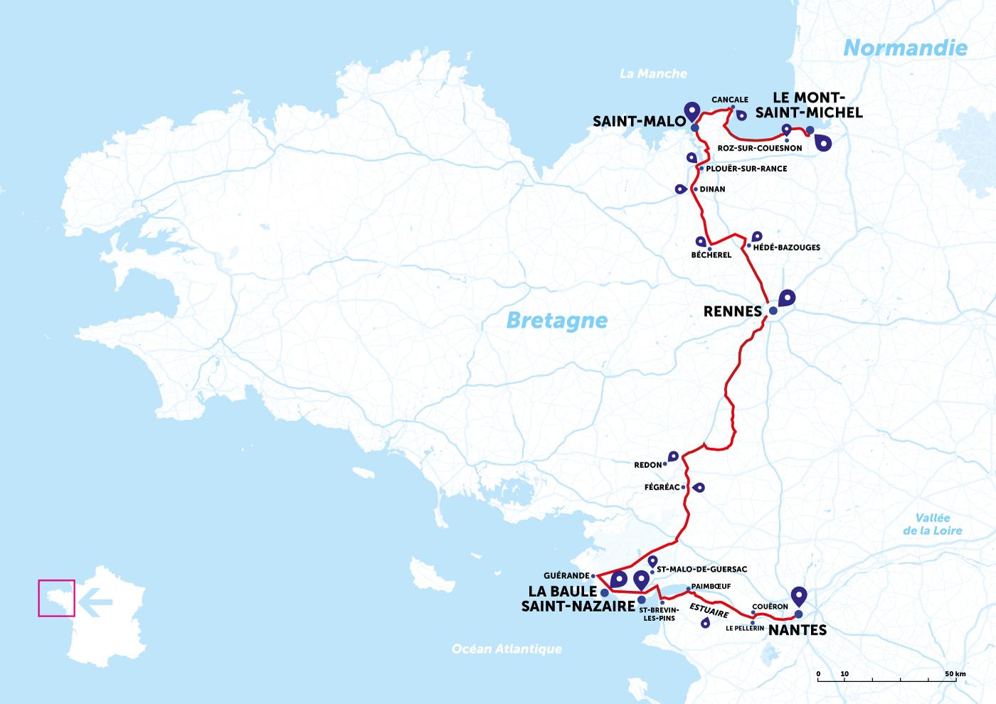 itinéraire voyage bretagne