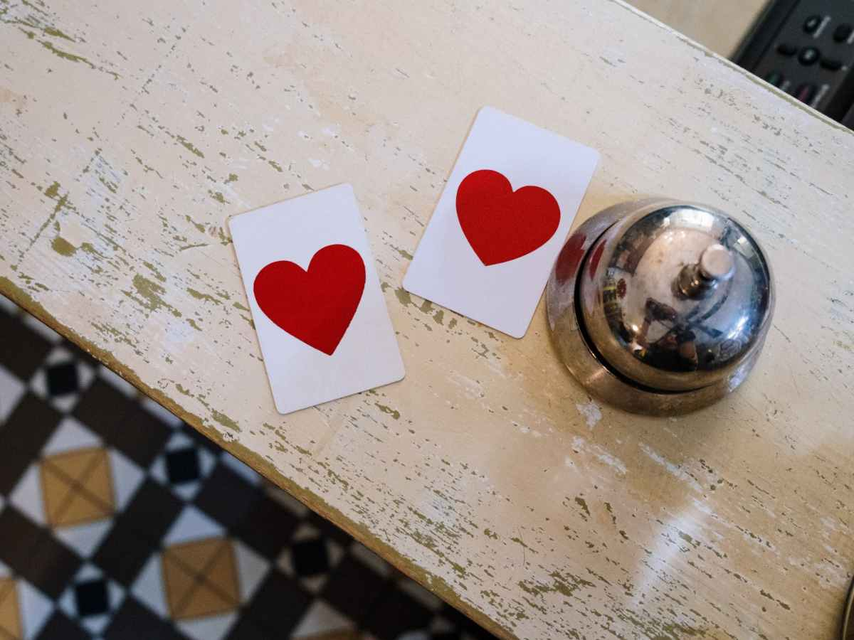 wood love art heart