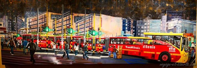 Le transMilenio, bus rapide de Bogota