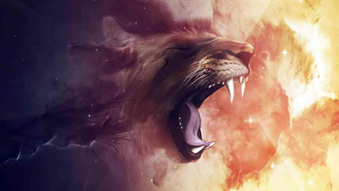 wallpaper et fond d'écran art graphique félin lion rugir portrait animal animaux