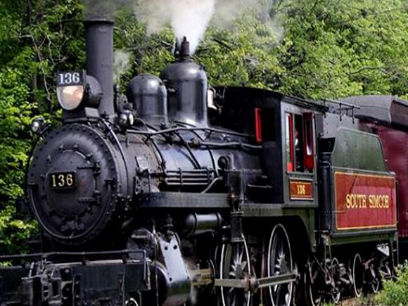 Locomotive du train du chemin de fer de South Simcoe