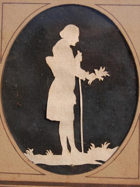 Silouette de J-J Rousseau, Despréaux, Abbaye de Chaalis © Abbaye de Chaalis, Institut
