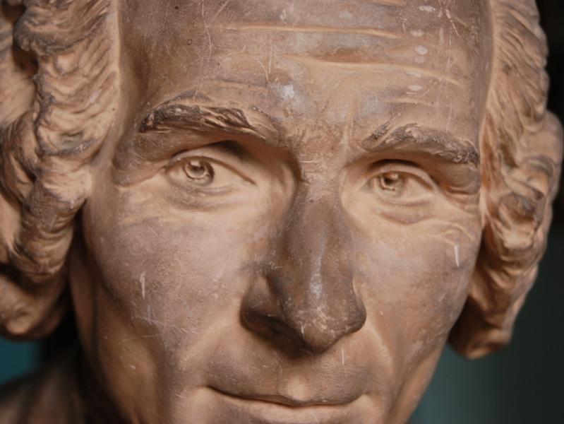 Buste de Rousseau par Houdon, Abbaye de Chaalis © Abbaye de Chaalis, Institut