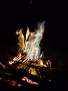 la fameuse flame bleue de notre feu du soir
