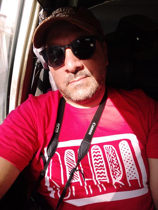 T-shirt SAHARA rouge pour homme