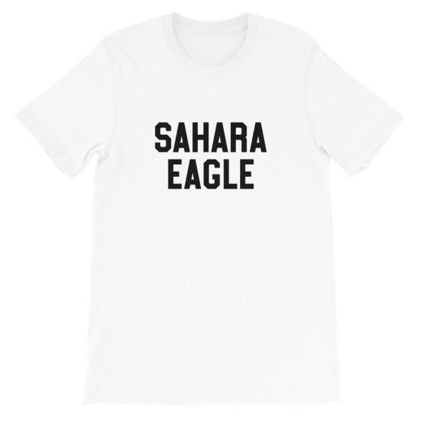 Sahara Eagle T-shirt blanc homme femme