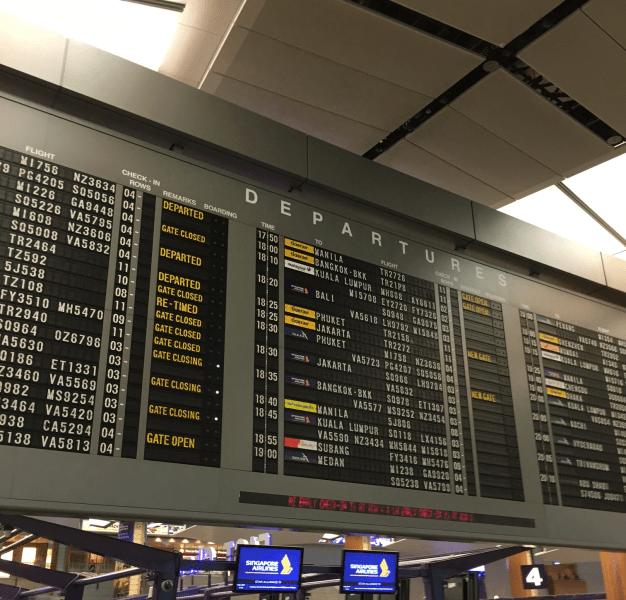 チャンギ空港(SIN)SATSプレミアラウンジ(ターミナル2)のWifiスピードチェック