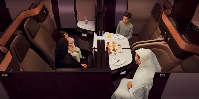 カタール航空(QR)のビジネスクラス「QSuite」がソウル仁川(ICN)に就航!(2018/1/22から)