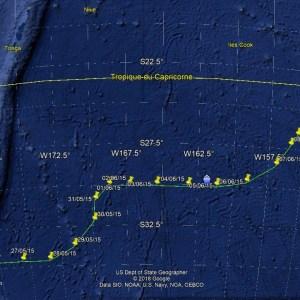 Navigation Whangareï à Tubuaï