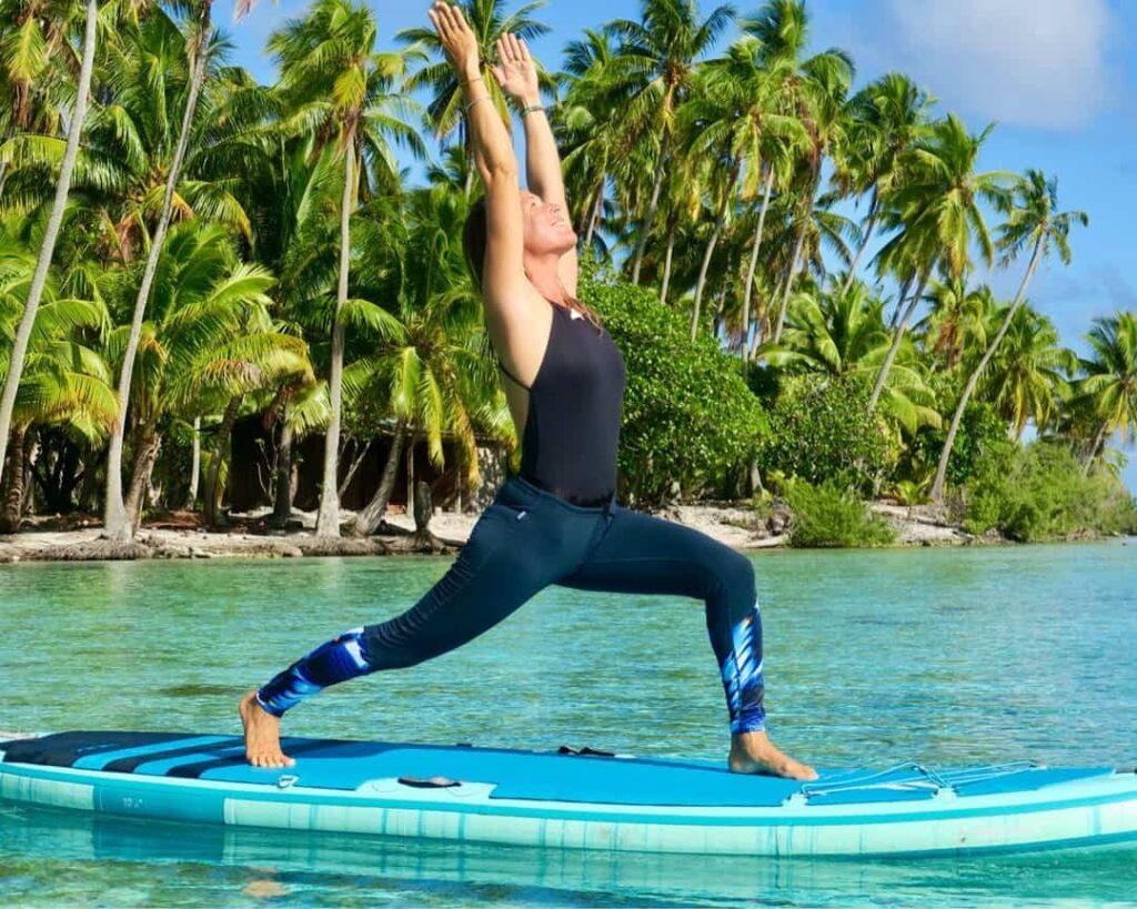 Interview sarah poussé par le vent - SUP yoga instructrice