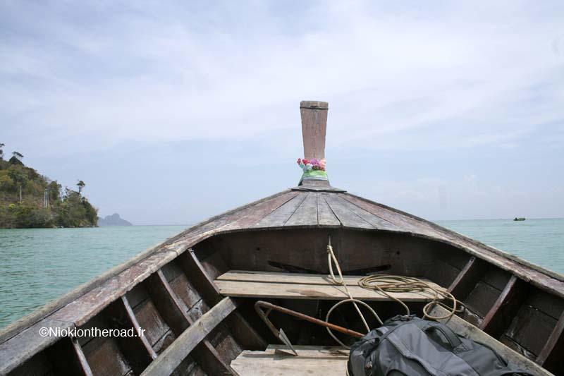 Thaïlande Ko Phi Phi bateau longboat