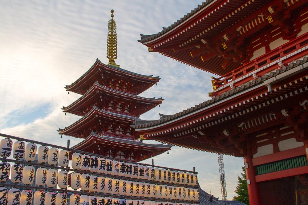 temple Senjo-ji tokyo pagode