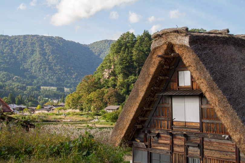 maison toit chaume Shirakawa-go