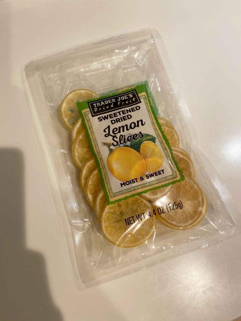 トレーダー・ジョーズで購入したレモンのドライフルーツ