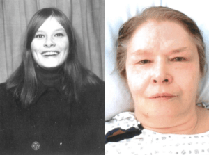 Picture of young and old side by side of Trudy Darlene Patricia Gillis
