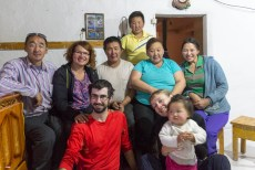 Le frère de Doljmaa et sa famille (MG) - Ulgii, MONGOLIE