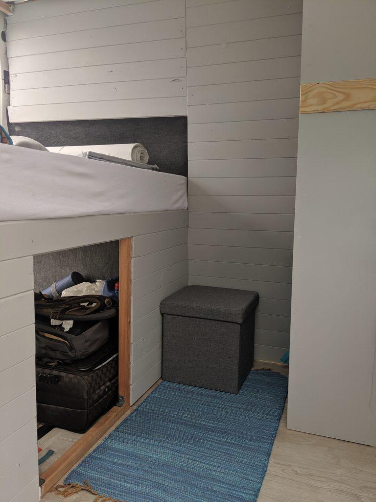 notre aménagement intérieur : le lit