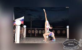 Девушки гимнастки в Вояже лето Крым Заозерное