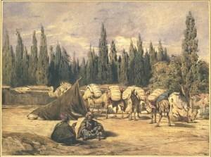 Montfort - Halte d'une caravane