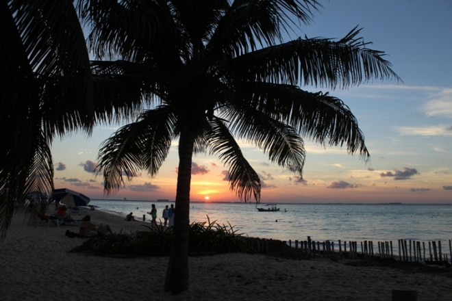 Playa Norte zachód słońca