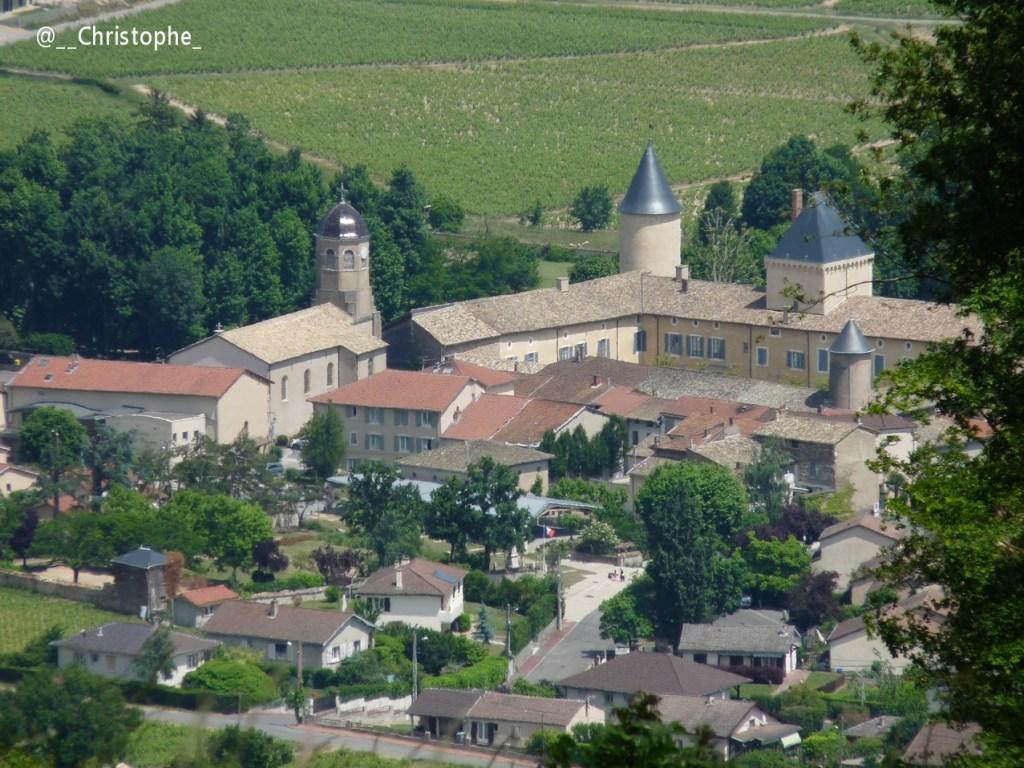 Saint Lager vu depuis le Mont Brouilly