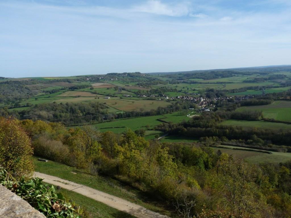 Vézelay, vue sur les collines du Morvan