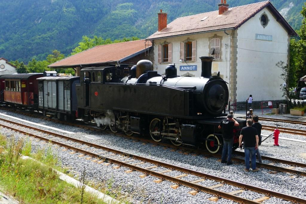 Gare d'Annot- train des Pignes à vapeur