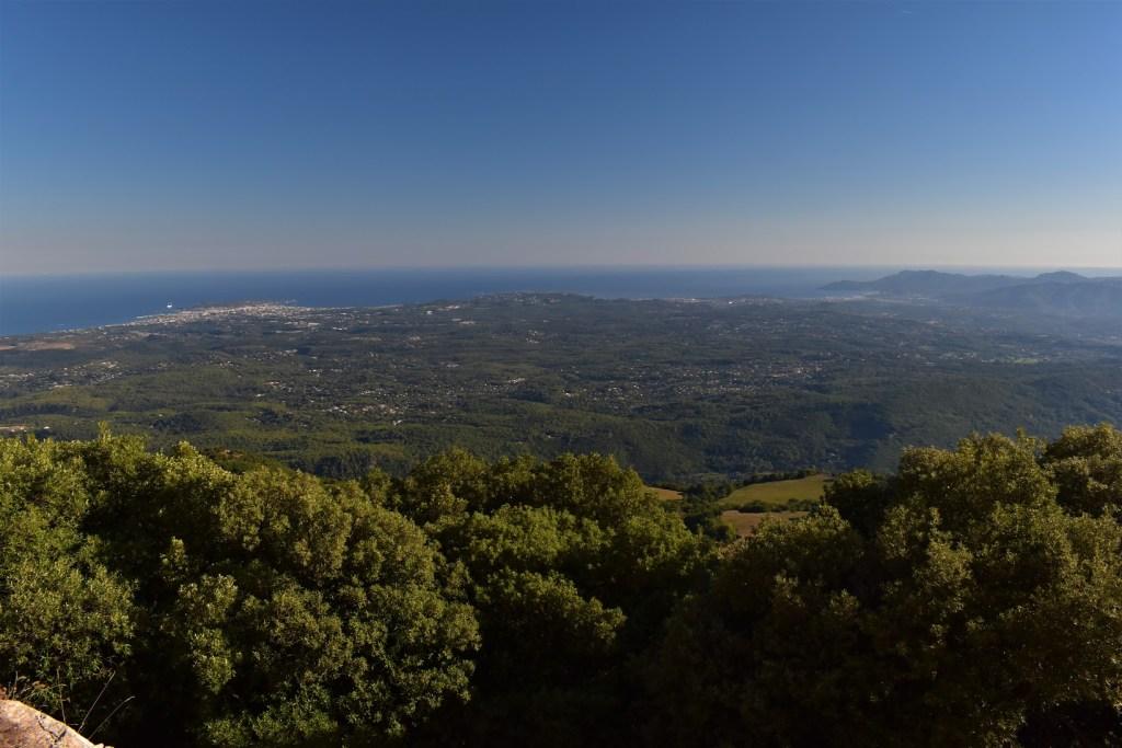 La Côte d'Azur depuis le Pic de Courmettes
