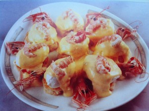 Oeufs langoustines recette cuisine croate