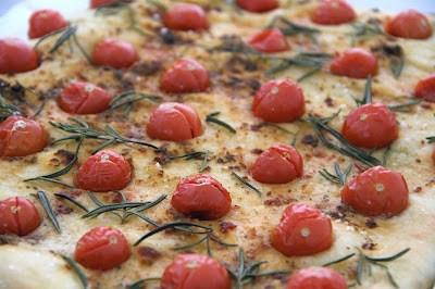 focaccia aux tomates