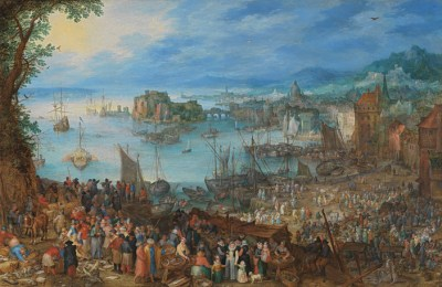 Jan Brueghel the Elder Large Fish Market, 1603