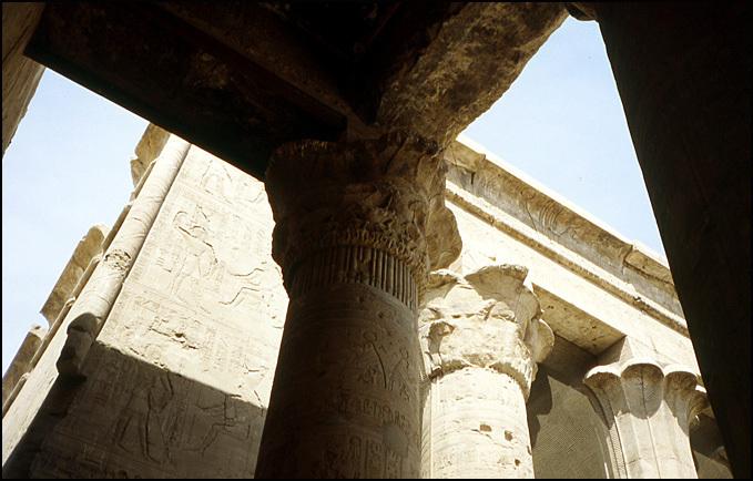 colonnes temple Edfou