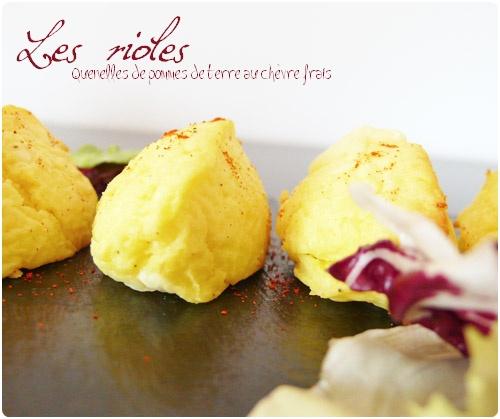 recette dauphonoise Rioles (quenelles de pomme de terre au chèvre frais)
