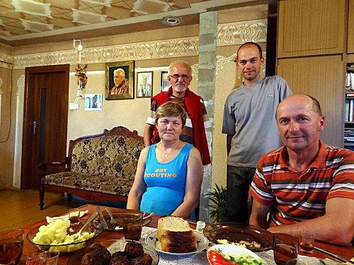 Pologne famille Jadwiga/Czelaw Racis Gîte
