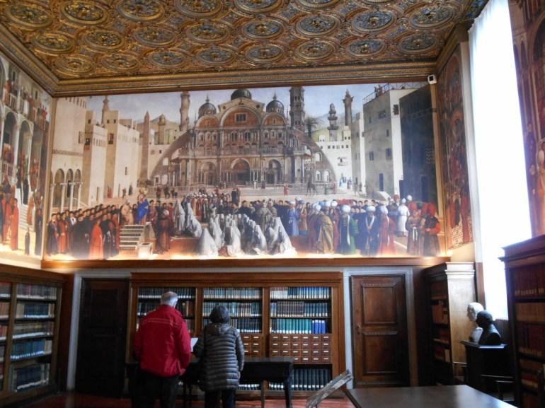 """""""La prédication de Saint Marc à Alexandrie"""" par Gentille et Giovanni Bellini."""