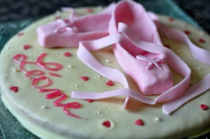 gâteau chausson de danse