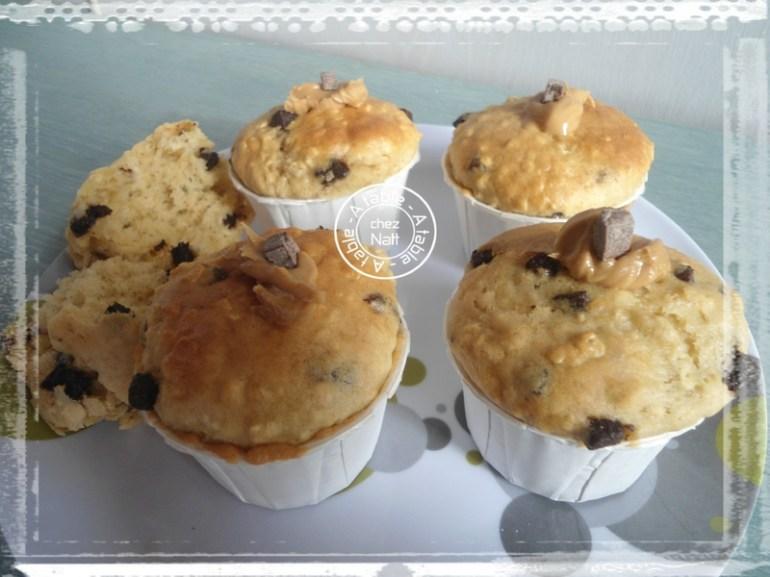 c25e6f1939 94900378 Muffins au beurre de cacahuète et pépites de chocolat