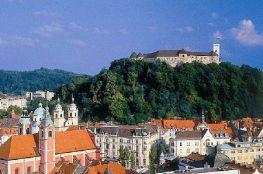ljubljana chateau et vieille ville