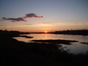 Coucher de soleil sur la Daugava