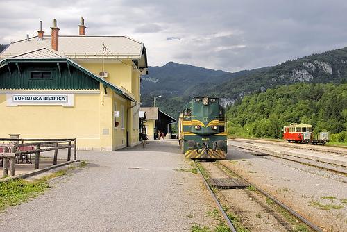 Bohinj Bistrica autovlak Slovenie