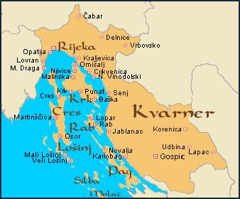 kvarner carte croatie
