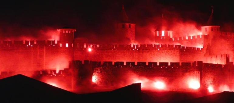 embrasement feu d'artifice de carcassonne