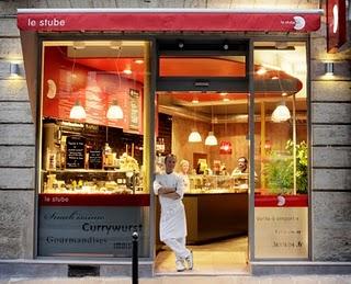 Le Stube Paris ; snack franco-allemand ; l'Allemagne sur un plateau! 1