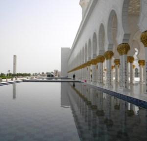 La grande Mosquée d'Abu Dhabi ; une splendeur (Tourisme Emirats Arabes) 6