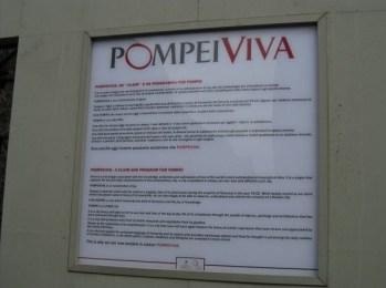 Pompéi viva : pour préserver les lieux